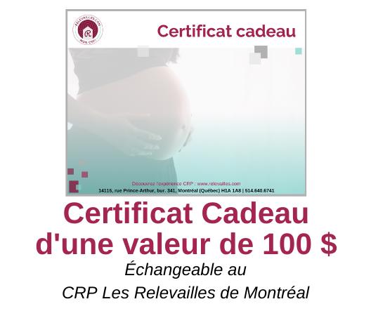 Certificat Cadeau d'une valeur de 100 $- VISUEL web 20191206